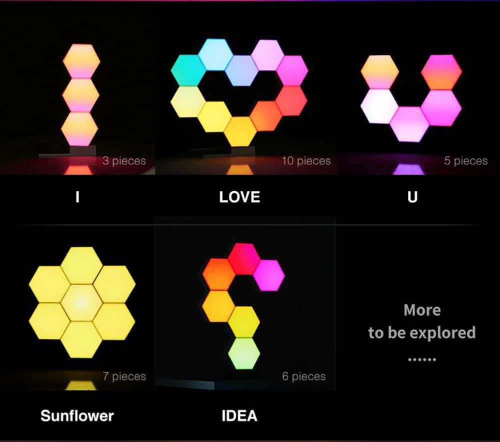 Cololight PRO Starter Set Modulare RGB-Lampe Muster und Beispiele