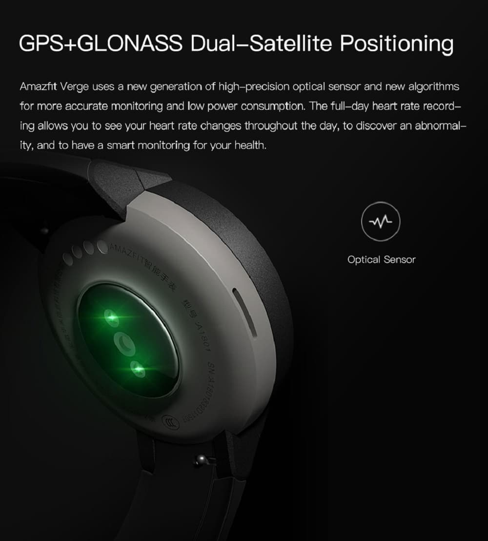 Huami AMAZFIT Verge 3 Smart Watch 1 3 Inch AMOLED Screen Deep Gray 20181123134425663