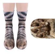 geekbuying 3D Printed Cat Feet Animal Pattern Unisex Adult Socks Multicolor 726814
