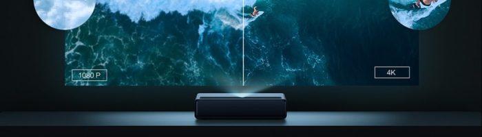 Xiaomi Mijia 4k Laser Ultrakurzdistanz Projektor Full-HD zu 4k Vergleich