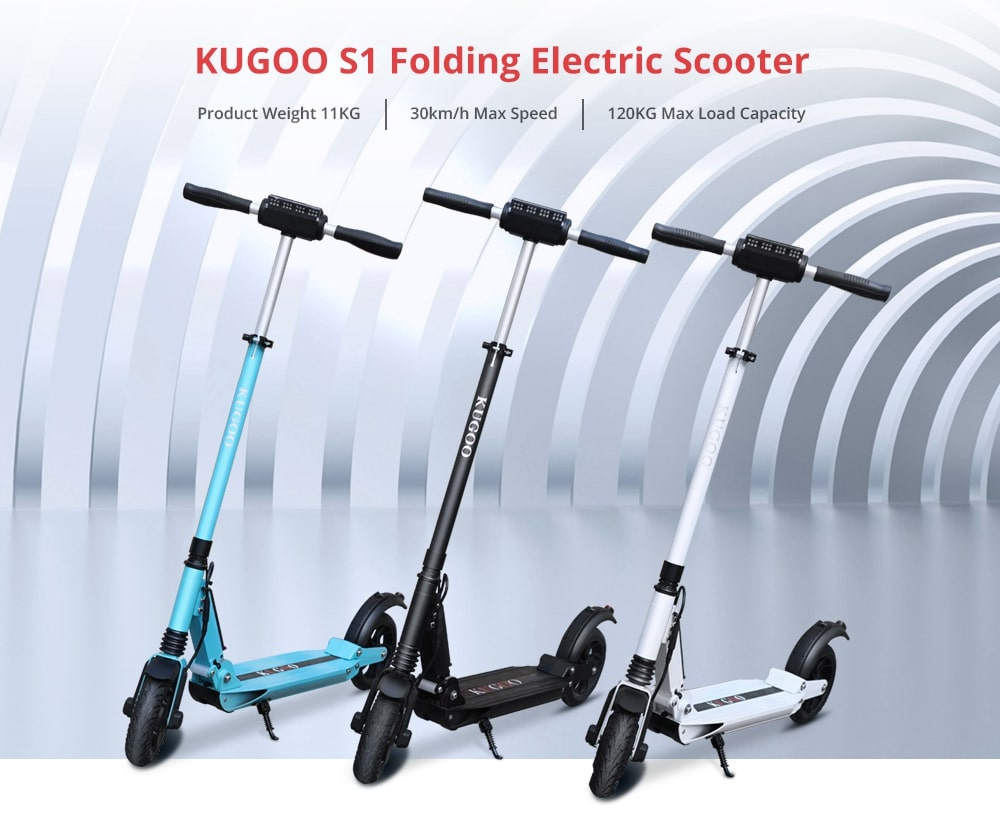 KUGOO S1 Folding Electric Scooter 350W Motor 8 Inch Tire Black 20181206135314409