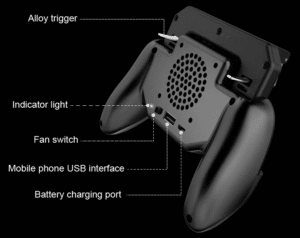 2019 05 15 14 35 57 New Game Pad Mobile Phone Cooler Cooling Fan Gamepad Holder Stand 2000 mAh Power