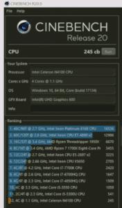 JUMPER EZbook X1 Benchmark