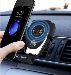 2020 03 10 09 02 02 Gocomma 10W QI Wireless Fast Charger Car Mount Black 1pc Car Charger Sale Price