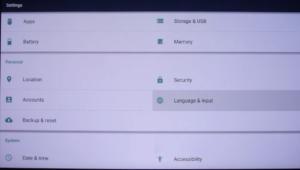 Xiaomi Mijia 4k Laser Ultrakurzdistanz Projektor aktivieren der englischen Sprache im System