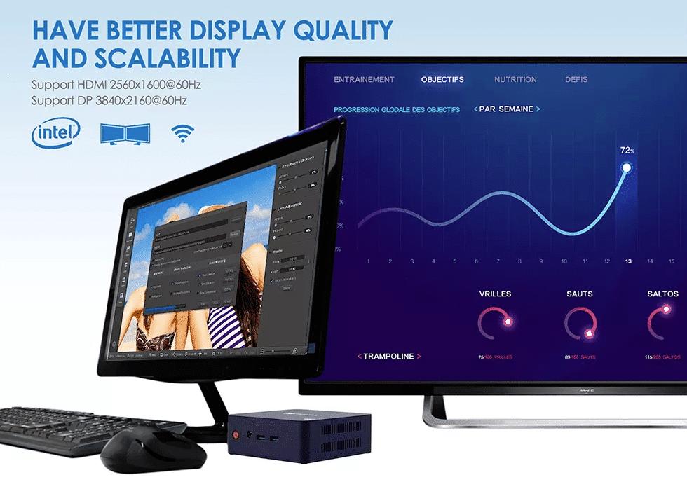 Beelink L55 4K Display Support mit 60Hz