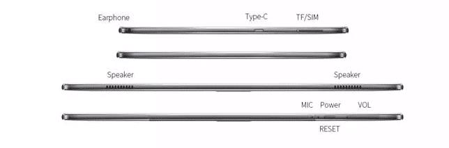 Teclast M30 Anschlüsse