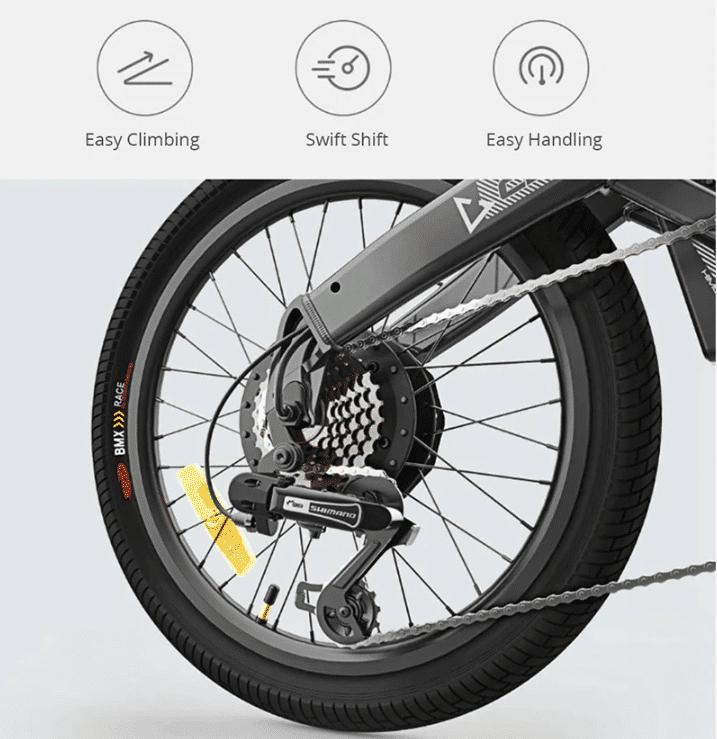 2019 09 24 09 37 07 Original Xiaomi HIMO C20 10AH Electric Moped Bicycle 25KM Per Hour 250W Motor Fo