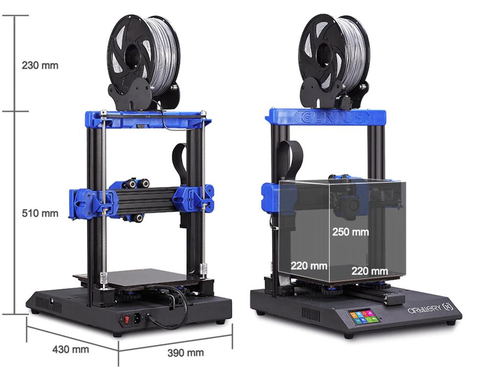 2019 11 21 15 45 21 Artillery GENIUS 3D printer 220X220X250MM Large Plus Size High Precision Dual Z
