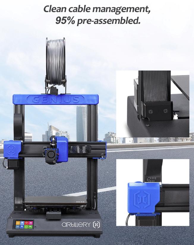 2019 11 21 15 46 04 Artillery GENIUS 3D printer 220X220X250MM Large Plus Size High Precision Dual Z