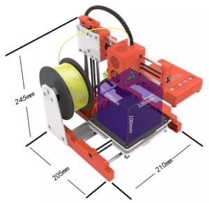 2019 12 19 11 20 17 easythreed® x1 mini 3d printer 100 100 100mm printing size for household educati
