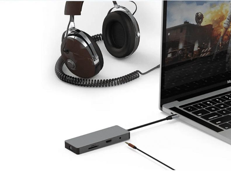 Multifunktions USB Hub Audioausgang