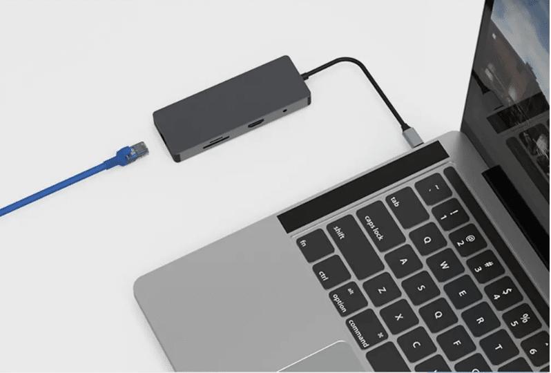 Multifunktions USB Hub LAN Anschluss