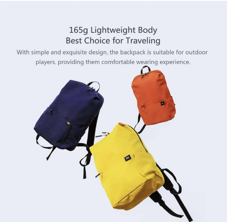 2020 01 15 13 59 50 Xiaomi Mini Rucksack Leichte Colorfull Water Resistant 10L Kapazität Naran