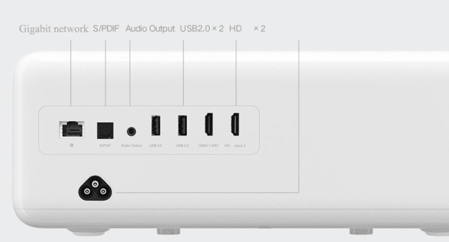 Xiaomi Mijia Laser Projektor Anschlüsse