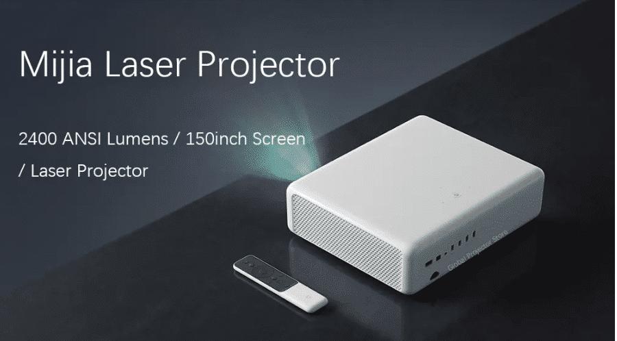 Xiaomi Mijia Laser Projektor mit 2400 ANSI Lumen und bis zu 150 Zoll Bild