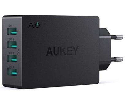 2020 03 05 15 00 12 AUKEY USB Ladegerät 4 USB Ports 40W USB Netzteil  Amazon.de  Elektronik