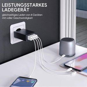 2020 03 05 15 00 28 AUKEY USB Ladegerät 4 USB Ports 40W USB Netzteil  Amazon.de  Elektronik