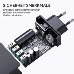 2020 03 05 15 00 49 AUKEY USB Ladegerät 4 USB Ports 40W USB Netzteil  Amazon.de  Elektronik