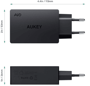 2020 03 05 15 02 13 AUKEY USB Ladegerät 4 USB Ports 40W USB Netzteil  Amazon.de  Elektronik