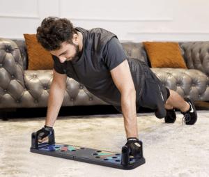 2020 03 25 14 25 23 Jourbon 9 in 1 Faltbare Push Up Rack Board mit Handgriff für Muskeltraining Effe