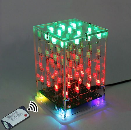 2020 03 27 15 24 26 LEORY DIY 4x4x4 Dual Farbe 3D LED Musik Cube Licht Platz Elektronische 5 V Kit M