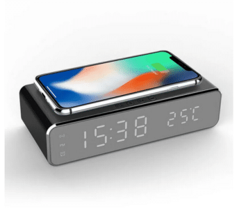 2020 03 30 14 03 20 Electric led 12 24h alarm clock with phone wireless charger table digital thermo