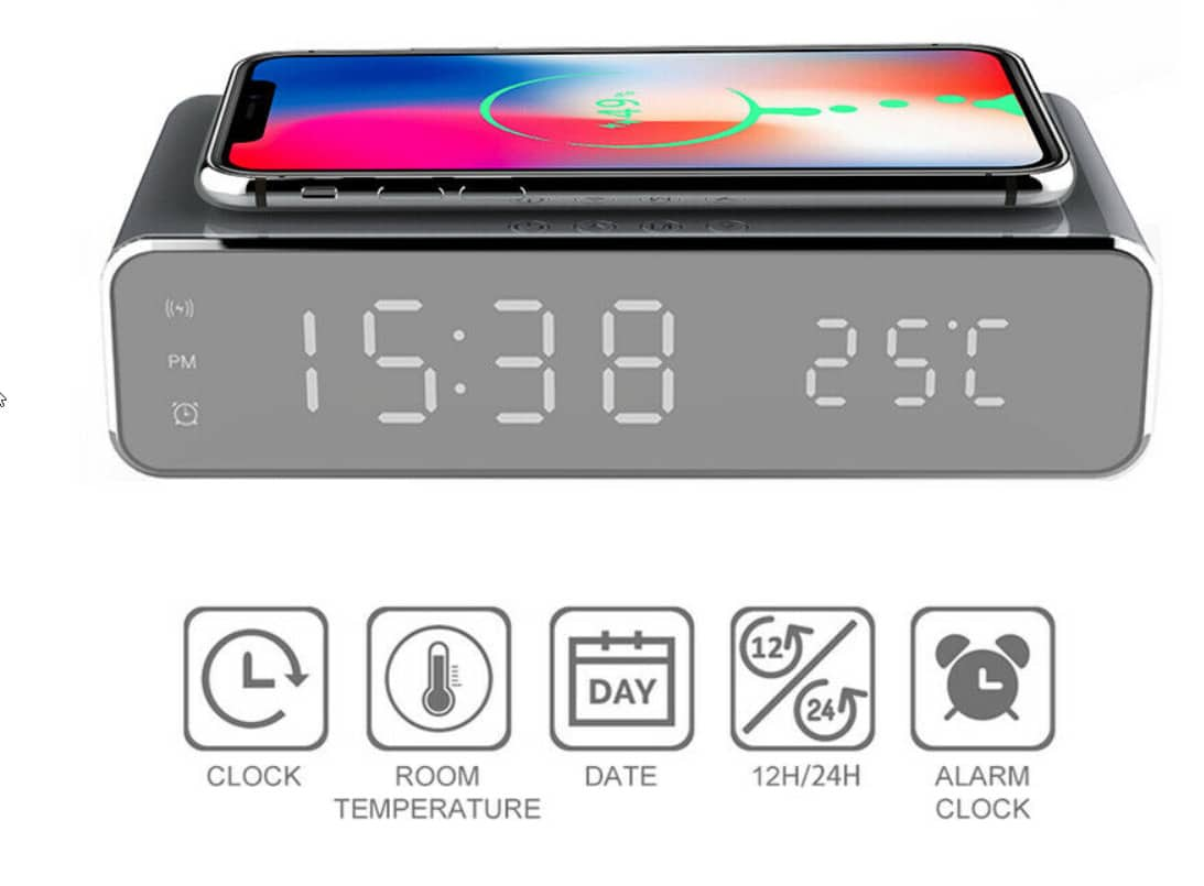 2020 03 30 14 09 19 Electric led 12 24h alarm clock with phone wireless charger table digital thermo