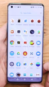 OnePlus 8 Vorderansicht  Hauptmenü