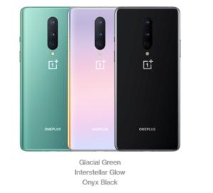 OnePlus 8 Farben und Rückansicht