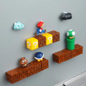 2020 05 08 15 03 45 63 stücke 3D Super Mario Bros. Kühlschrank Magneten Kühlschrank Nachricht Aufkle