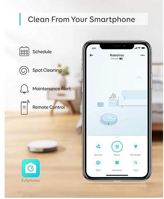 Eufy RoboVac G10 Hybrid App Anbindung mit Fernsteuerung