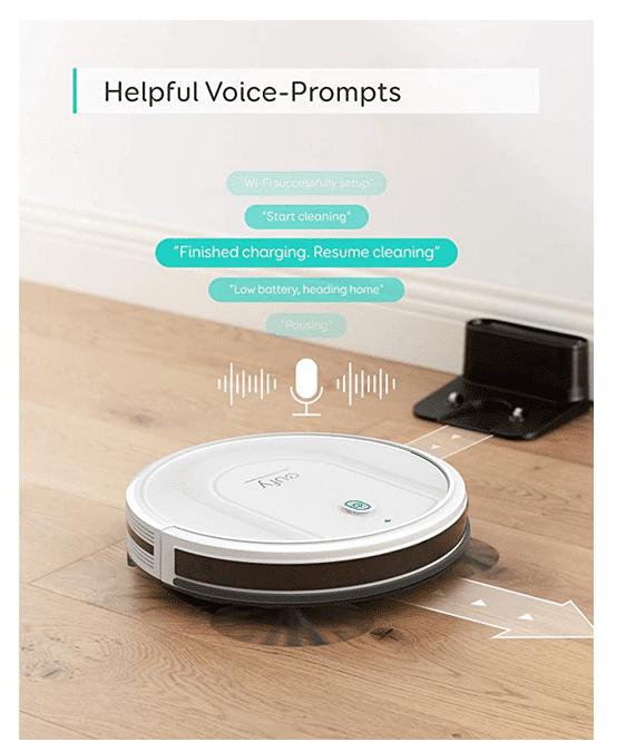 Eufy RoboVac G10 Hybrid Sprach Assistent Kompatibel mit eigenen Sprachausgabe