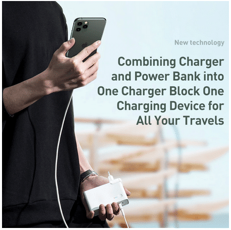 Baseus 2-in-1 Powerbank & Charger Powerbank Funktion