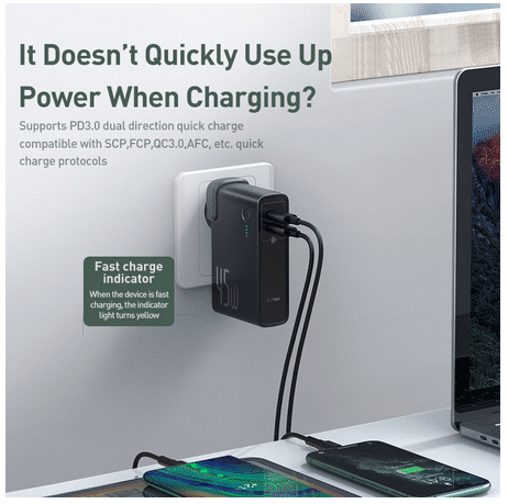 Baseus 2-in-1 Powerbank & Charger 2 Geräte gleichzeitig