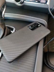 Pitaka Handyzubehör aus Aramid/Kohlefaser Rückseite Huawei P40 Pro