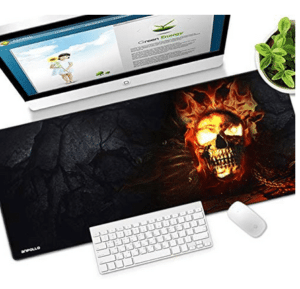 XXL Mauspad verschiede Designs flammender Totenkopf