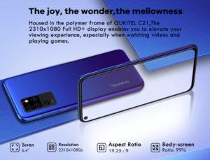 2020 08 26 09 28 27 OUKITEL C21 Helio P60 Quad Kamera 20MP Selfie 6.4 FHD  Locher Bildschirm 4000