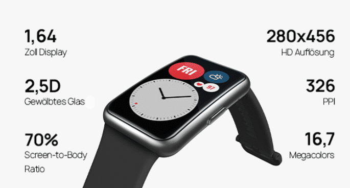 Huawei Watch Fit  Technische Daten