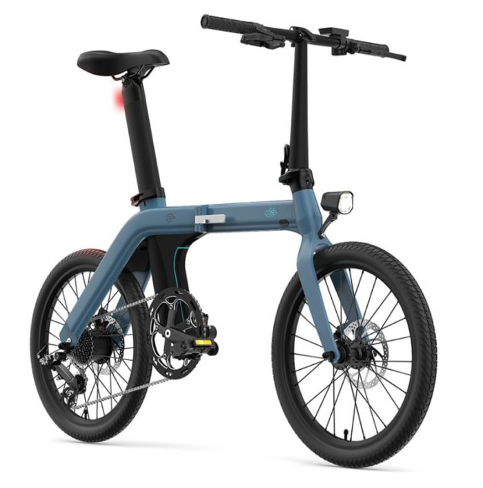 2020 09 24 10 22 37 FIIDO D11 Folding Electric Moped Bicycle 20  250W Motor Blue