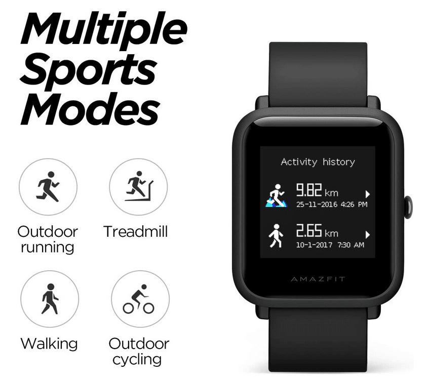 2021 07 05 09 57 23 Amazfit Smartwatch Bip Lite Sportuhr Fitness Armbanduhr 5 ATM wasserdicht Stoppu