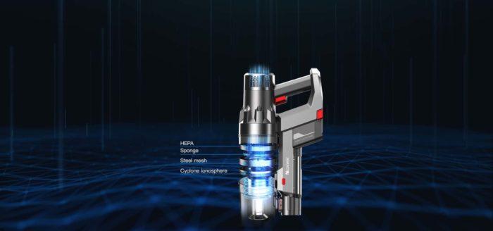 Proscenic P11 Handgriff und FIlter