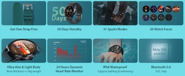 2020 11 06 14 03 11 TICWRIS RS Black Black Strap Gray Strap Smart Watches Sale Price  Reviews   G