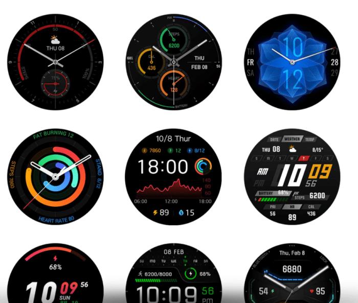 Amazfit GTR 2/e über 100 verschiedene Watchfaces