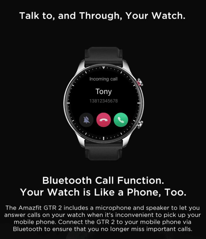 Amazfit GTR 2/e mit Bluetooth Telefonie
