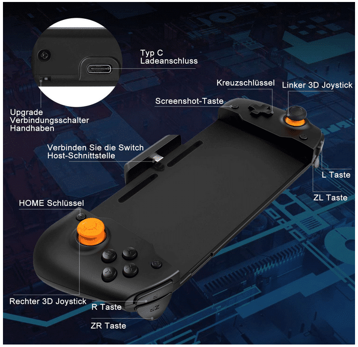 2020 12 01 17 55 05 Zacro Switch Controller fuer Nintendo Switch Gamepad Ergonomic Controller2 Moto
