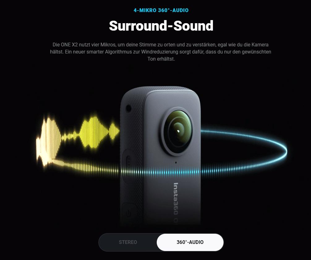 Insta360 One X2 360° Soundaufnahme