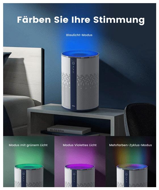 2021 02 04 17 01 29 TCL Luftreiniger fuer zu Hause mit echtem HEPA H13 Filter Luftreiniger faengt Rau