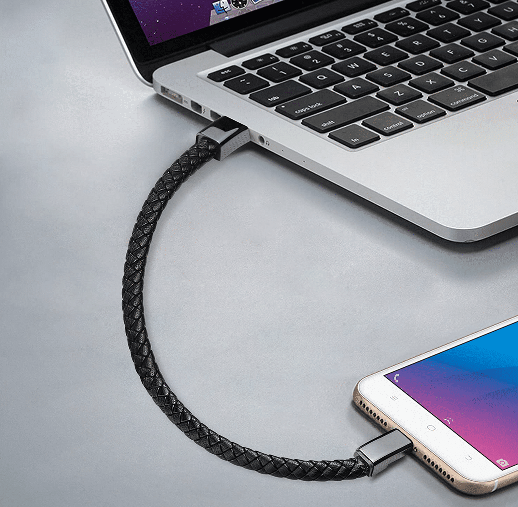 USB Ladekabel-Armband Arbeitsbeispiel