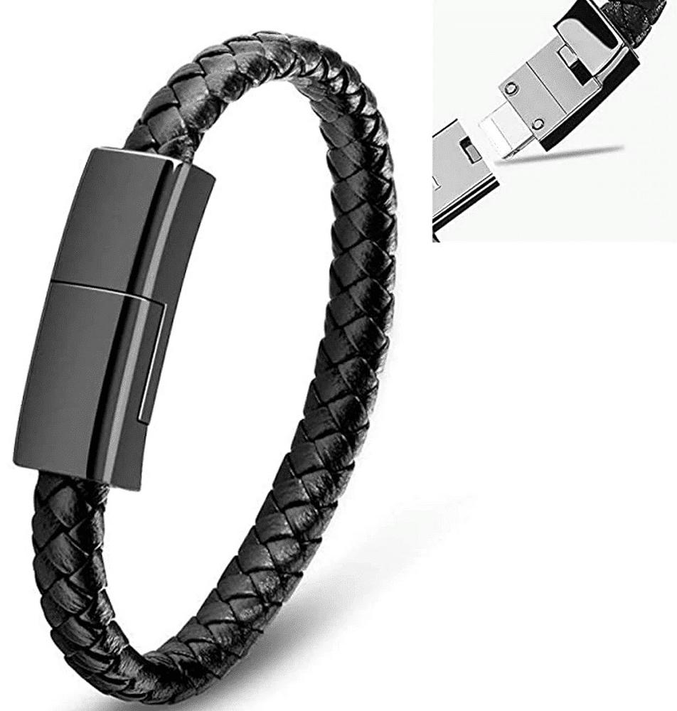 USB Ladekabel-Armband Nah Ansicht und Verschluss